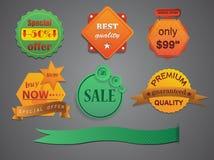 Elementos para a disposição, papel velho amarrotado/vetor Fotografia de Stock Royalty Free