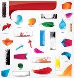 Elementos para el diseño de Web Fotos de archivo libres de regalías