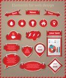 Elementos para el diseño web Imagen de archivo