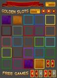 Elementos para el juego de las ranuras Foto de archivo libre de regalías