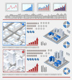 Elementos para infographic Fotos de Stock Royalty Free