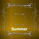 Elementos para los diseños caligráficos del verano Ornamentos del vintage Todos por vacaciones de verano Fotos de archivo libres de regalías
