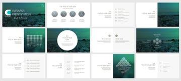 Elementos para moldes da apresentação Imagem de Stock Royalty Free