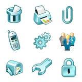 Elementos para o painel dos ícones ilustração royalty free