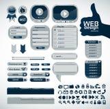 Elementos para o projeto de Web. Jogo grande ilustração stock