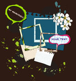 Elementos para scrapbooking. ilustração do vetor. Ilustração Stock