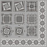 Elementos para um ornamento. imagens de stock