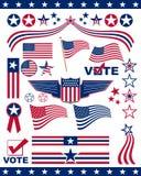 Elementos patrióticos americanos Fotografia de Stock Royalty Free