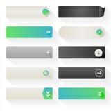 Elementos planos del botón del web Foto de archivo
