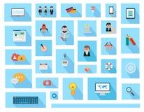Elementos planos del diseño de UI para el web, Infographics ilustración del vector
