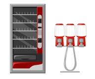 Elementos planos del diseño del ejemplo de la máquina expendedora libre illustration