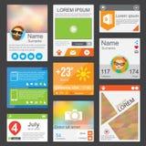 Elementos planos del diseño web Fotografía de archivo libre de regalías