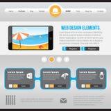 Elementos planos del diseño web Imágenes de archivo libres de regalías