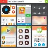 Elementos planos del diseño web Fotos de archivo libres de regalías