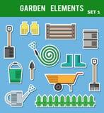 Elementos planos del jardín Foto de archivo libre de regalías