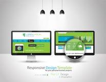 Elementos planos modernos del diseño de interfaz del estilo UI libre illustration