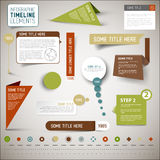 Elementos/plantilla de la cronología de Infographic Imagen de archivo libre de regalías