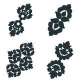 Elementos preto e branco Imagem de Stock