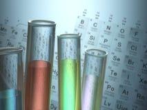 Elementos químicos Imagem de Stock