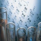 Elementos químicos Imagens de Stock
