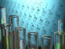 Elementos químicos Fotografía de archivo