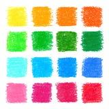 Elementos quadrados pasteis do projeto do óleo bonito para seu projeto Foto de Stock Royalty Free
