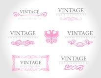 Elementos reales del diseño de la vendimia barroca Foto de archivo