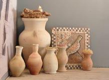 Elementos relacionados de la arqueología Imagen de archivo libre de regalías