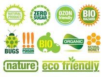 Elementos respetuosos del medio ambiente del diseño Ilustración del Vector