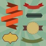 Elementos retros del cartel Imagen de archivo