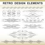 Elementos retros del diseño Fotografía de archivo libre de regalías