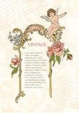 Elementos retros del diseño Imagen de archivo libre de regalías