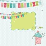 Elementos retros del diseño de la celebración del cumpleaños Foto de archivo libre de regalías