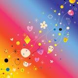 Elementos retros del diseño del arte abstracto libre illustration