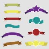 Elementos retros del diseño del sistema grande Colección del vector Imagen de archivo