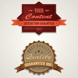 Elementos retros del diseño del vintage Imagenes de archivo