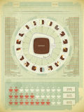 Elementos retros do infographics Fotografia de Stock Royalty Free