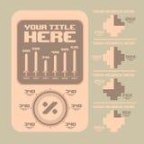 Elementos retros do infographics Teste padrão feliz sem emenda da família do pixel art Fotos de Stock Royalty Free