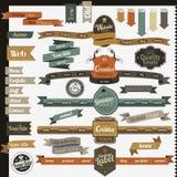 Elementos retros do Web site do estilo do vintage Imagens de Stock Royalty Free