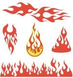 Elementos rojos de la llama stock de ilustración