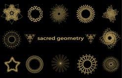 Elementos sagrados ajustados da geometria Foto de Stock Royalty Free