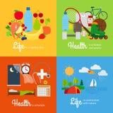 Elementos saudáveis do estilo de vida Fotografia de Stock Royalty Free