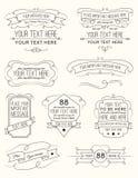 Elementos seis de la caligrafía del vintage Foto de archivo libre de regalías