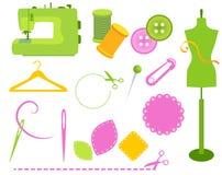 Elementos Sewing ilustração stock
