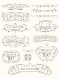 Elementos siete de la caligrafía del vintage Fotos de archivo