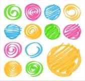 Elementos sombreados y espirales del Highlighter del diseño libre illustration