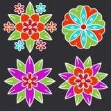 Elementos styles de Kolam Imagenes de archivo