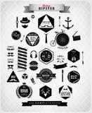 Elementos styles e iconos del inconformista ilustración del vector