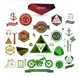 Elementos styles, iconos y etiquetas del inconformista Fotografía de archivo libre de regalías