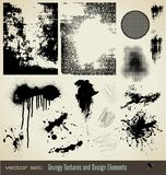 Elementos sucios del diseño Imagen de archivo libre de regalías